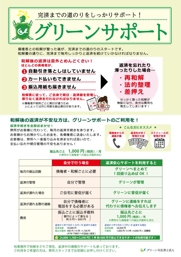 返済代行サービスグリーンサポート